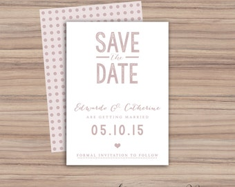 Printable Save The Date Card - Save The Date - Printable Wedding - Printable Wedding Invitations - 106