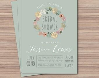 Bridal Shower Invitation - Printable Bridal Shower - Printable Wedding Invitation - Bridal - 115