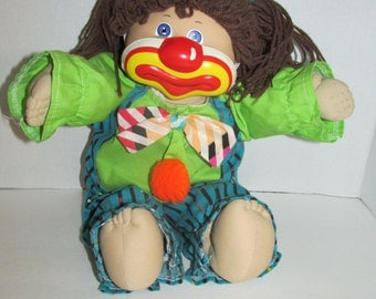 Vintage Girl Clown Cabbage Patch Kid - 1980s Doll