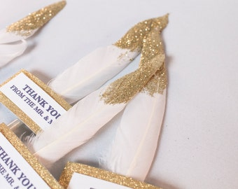 Glitter Feather Favors