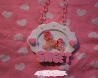 Necklace cameo equuleus