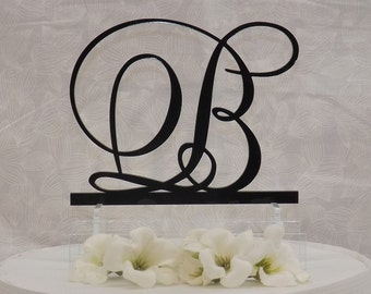 Letter B Custom Wedding Cake Topper -Letters A B C D E F G H I J K L M N O P Q R S T U V W X Y Z