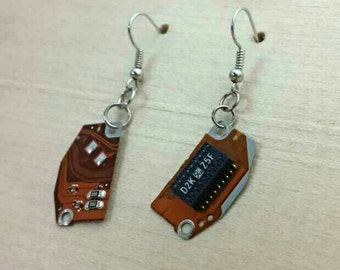 Recycled Computer Parts Earrings