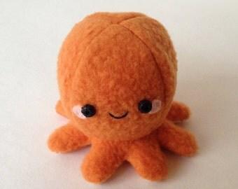 Adorable Fleece Mini-Octopus Plush - Orange