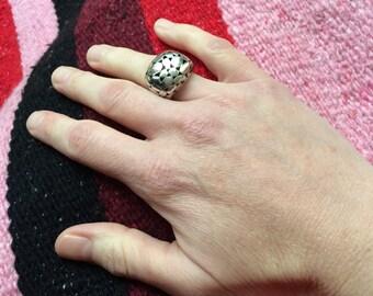 Pierced Sterling Silver Ring