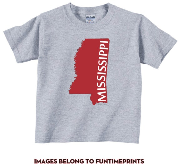 MISSISSIPPI fun state map T Shirt or Bodysuit funny