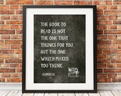 Harper Lee/Quote/Art Print-Chalkboard,Library,Classroom,Wall Decor,8x10,11x14