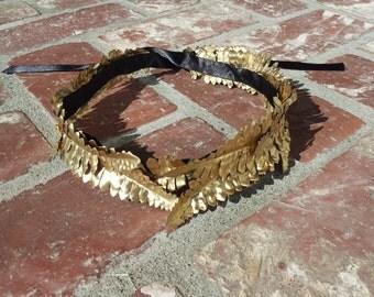 Roman inspired laurel headpiece