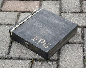 Personalized Cigar Box - Custom Cigar Box - Engraved Gift Box - Groomsman Gift Box - Cigar Box Engraved - Wedding Box - Rustic Box