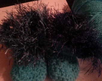 Baby Fur Boots - Crocheted