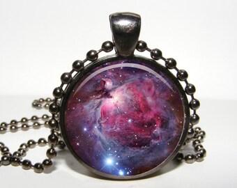 Nebula Pendant. Nebula necklace. Nebula jewelry. Space pendant. Galaxy pendant. Lilac turquoise blue universe pendant necklace.