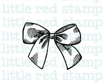 Ribbon Bow Digital Stamp Instant Download PDF JPG Printable Illustration Art Drawing Scrapbooking Digistamp
