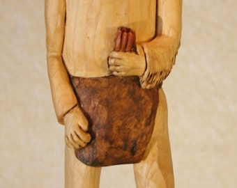 Hand Carved Wooden Indian #281