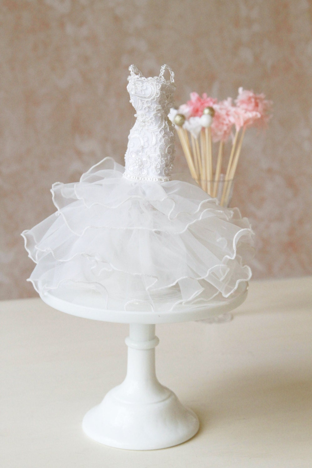 Bridal shower centerpiece mermaid gown couture wedding dress Wedding shower centerpieces