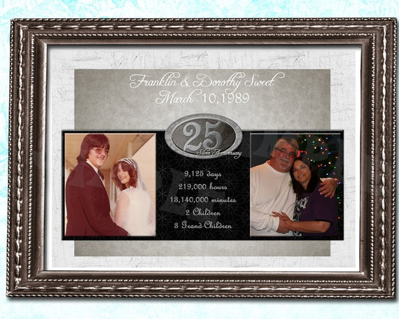 Wedding Anniversary Gifts For Couples: 25th Wedding Anniversary