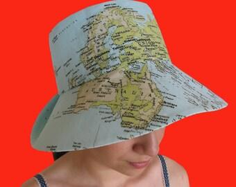 100% cotton Reversible shade hat beautifully made