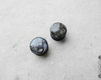 Black lilac galaxy ear gauges wood plugs,4,5,6,8,10,12,14,16,18,20,22,24,26-60mm;6g,4g,2g,0g,00g;1/4,5/16,3/8,1/2,9/16,5/8,3/4,7/8,1 1/4,1""