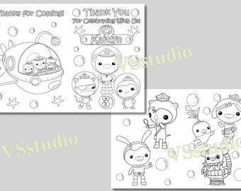Octonauts Party Thank You Coloring Pages Activity Book PDF File