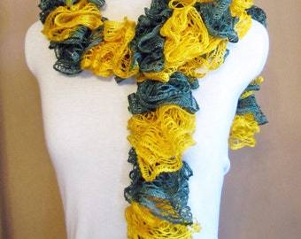 How do you knit a ruffle or spiral scarf?