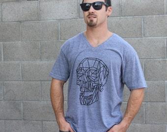 Athletic Gray V-Neck Octo American Apparel Tshirt