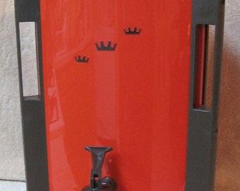 Vintage Reddish Orange & Brown Regal 30 Cup Automatic Percolator Coffee Pot Maker Urn