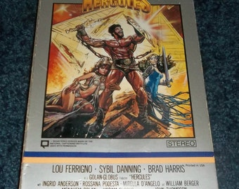 HERCULES VHS Lou Ferrigno 1983 Big Box Book Case Video Movie The Incredible Hulk  Sybil Danning Zeus River Styx