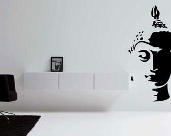 Buddha Head Vinyl Decal for Wall/ Laptop