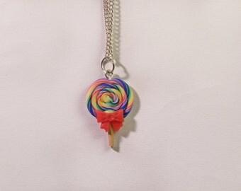Collana rainbow lollipop lecca-lecca