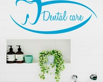 Custom Wall Decals Quote Dental Care Tooth Clinic Home Vinyl Stickers Home Art Murals Design Interior Kids Nursery Baby Room Decor kk691