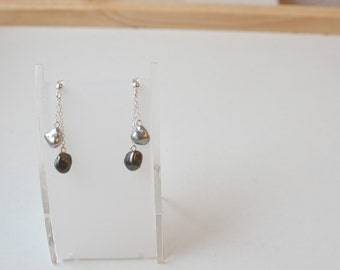 Silver chains and earrings Keishis (#5002)