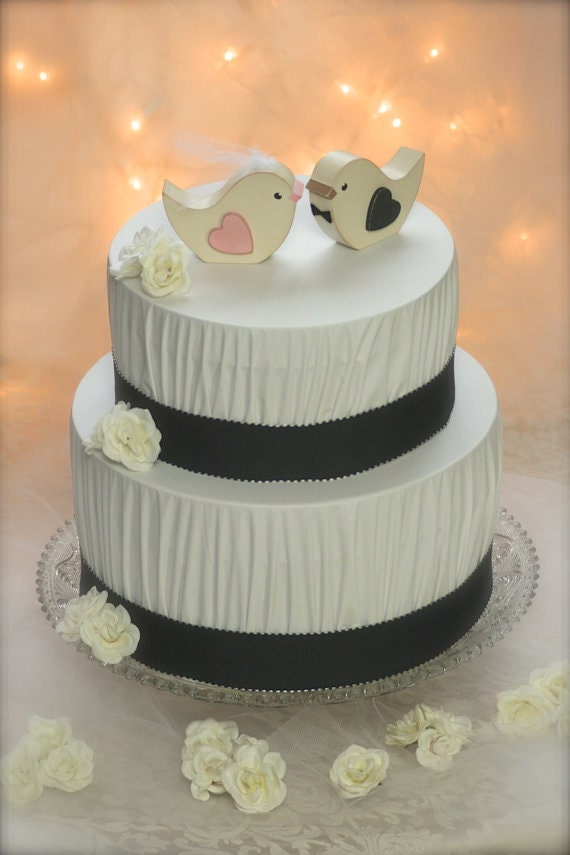 wedding cake decorations birds items similar to wedding cake topper birds rustic 22399