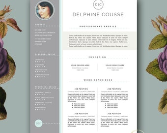 creative resume template and cover letter template for ms word and - Creative Resume Templates Free Word