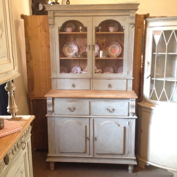 Paris Gray Kitchen Cabinets: Vintage French Country Style Pine Dresser By CrownCottageSomerset