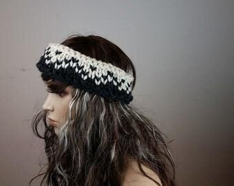 BiKay's Cream Knitted Headband, earwarmer, winter accessories