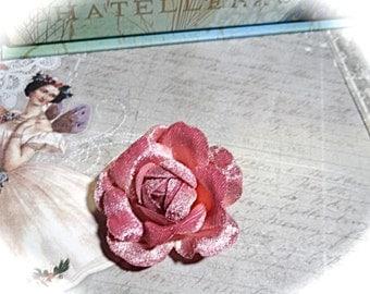 Rose Velvet Flower Millinery Supplies Trims Crafts FL-108