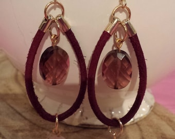 Earrings with Swarovski bead