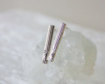 Sterling Silver Bar Earrings, Straight Thin Bar Studs Jewelry under 20