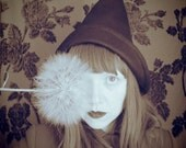 LITTLE WITCH black wool melton pointed witch hat