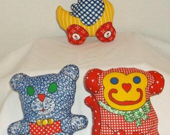 3 Vintage Stuffed Toys #324