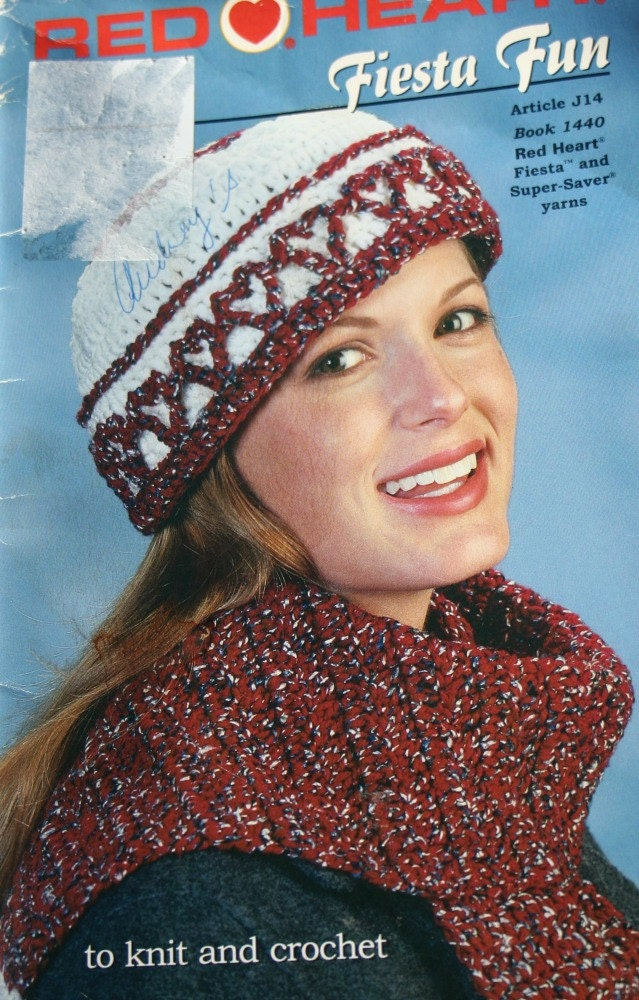 Crochet Patterns Knitting Hat Scarf Vest Valentines Afghan