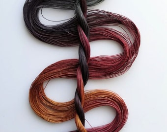 """Size 80 """"Knitty Gritty"""" hand dyed thread 6 cord cordonnet tatting crochet cotton"""