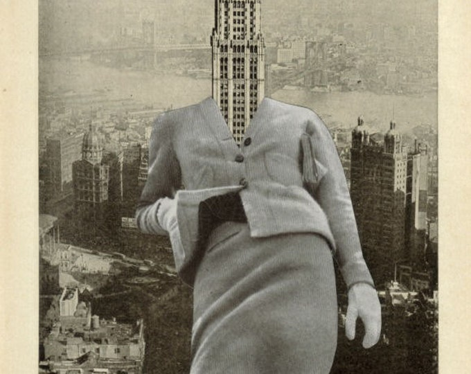 Surreal NYC Architectural Artwork, New York City Architecture Art Collage
