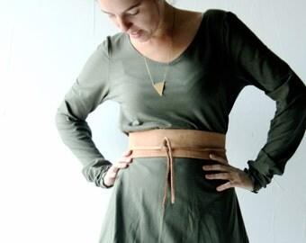 Obi Belt, Leather belt, Womens belt, Wrap belt, Steampunk, Brown belt, Wide belt, Womens accessories, Tie belt, Medieval belt, Larp,