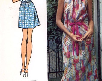 70s Halter dress summer retro vintage sewing pattern Bust 34 to  36