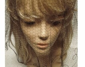 """Vintage MiLLINERY VEIL - EmBROIDERED Edge - 26"""" Round  - RaRE New Old Stock"""