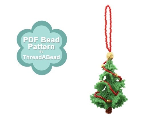 Bead Pattern: 3D Beadwork Christmas Tree Ornament