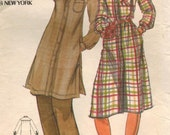 1970s Butterick 5091 Vintage Sewing Pattern Misses Designer Dress and Tunic Size 14 Bust 36