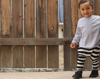 Baby Boy Baby Girl Black and White Striped Harem Pants: Etsy kid's fashion toddler boy toddler girl, fall fashion, halloween