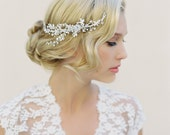 Bridal Hair Comb, Swarovski Crystals, Floral Hair Piece, Hair Vine, Woodland Wedding, Bridal Accessories, Crystal Halo, Crystal Wreath 1504