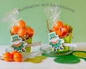 KIT 18  Bubblegum & Leprechauns  St. Patrick's Day Treat Box  Set of 18 Classroom Treats, Family party